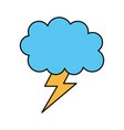 weather cloud lightning bolt climate storm vector image