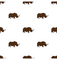 woolly rhinoceros icon in cartoon style isolated vector image