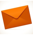 Brown empty mail envelope vector image vector image