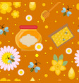 honey seamless pattern beekeeping endless vector image