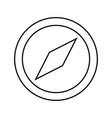compass black color icon vector image