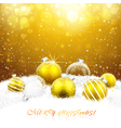 Christmas decorations in the snow vector image