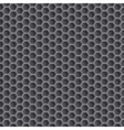 Realistic hexagonal grid background vector image