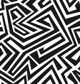 monochrome tribal maze seamless texture vector image