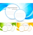 set of bright background vector image vector image