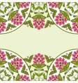 Invitation card with floral ornament vector image