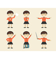 Business and office people flat design icons vector image