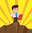Business Man Worker Winner Stand vector image