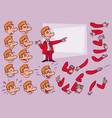 caucasian red hair businessman face and body vector image