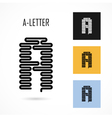 Creative A - letter icon abstract logo design vector image