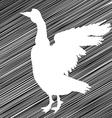 goose stencil vector image