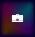 icon of secured briefcase vector image