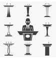 set of tribunes icons vector image