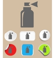 Spray icon - Flat design style vector image