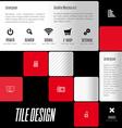 Business tile design design elements for flyers vector image