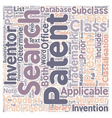 How Patent Searches Work text background wordcloud vector image