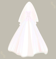 wedding dress with veil vector image