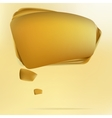 Abstract gold speech bubble EPS8 vector image