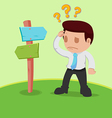 Businessman Choice Determine Way Confused vector image