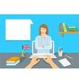 Online Internet Language courses flat vector image vector image