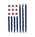 American vertical flag symbol celebration vector image