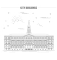 City buildings graphic template Town hall Rigas vector image