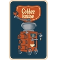 coffee grinder with cup vector image