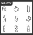 cosmetic outline isometric icons vector image