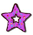 donut star vector image