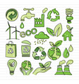 eco doodle vector image