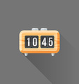 flat style wood retro flip clock icon vector image