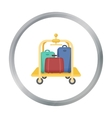 Luggage cart icon in cartoon style isolated on vector image