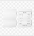 Printed receipt vector image