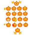 pumpkin smiles vector image