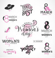 womens day typographical design elements for gree vector image