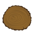 Tree slice isolated vector image