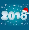 blue new year 2018 vector image vector image