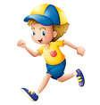 A little boy running vector image vector image