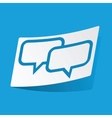 Chat sticker vector image