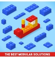Toy Block Ship Games Isometric vector image