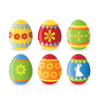 set of six easter eggs vector image vector image