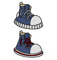 Funny blue sneakers vector image