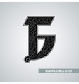 Beautiful ornate Cyrillic letter vector image