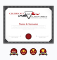 Certificate template layout background frame desig vector image