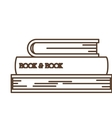 Isolated literature book design vector image
