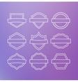 Linear emblems vector image