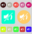 Mute speaker sign icon Sound symbol 12 colored vector image