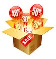 Sale box vector image