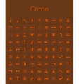 Set of crime simple icons vector image