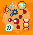School chemistry The tubes in the fire Radiation vector image